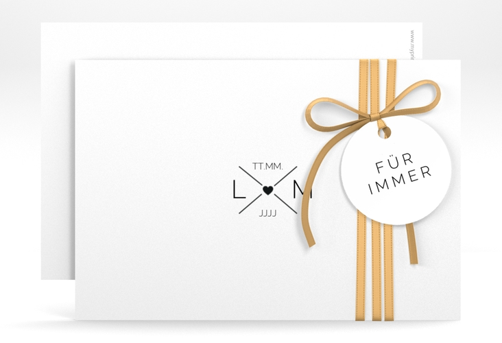 "Save the Date-Karte ""Initials"" A6 quer"