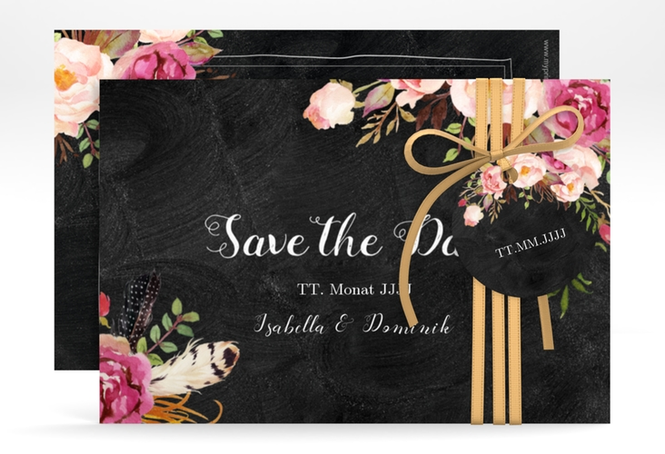 "Save the Date-Karte ""Flowers"" A6 quer"