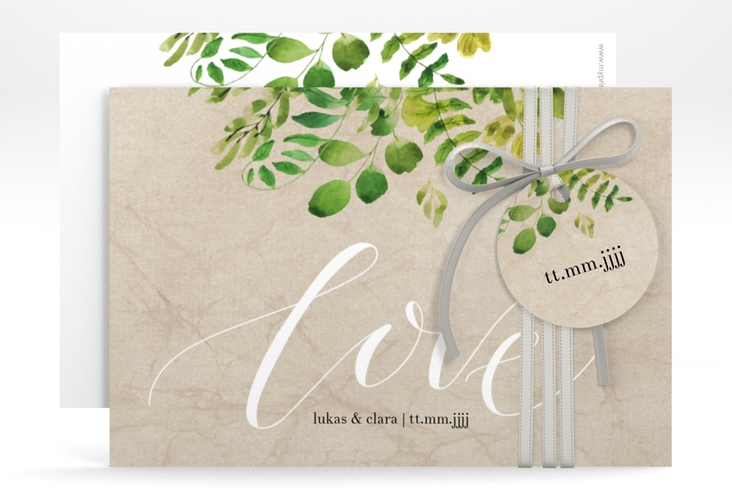 """Save the Date-Karte """"Botany"""" A6 quer"""