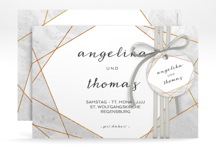 "Save the Date-Karte ""Asymmetry"" A6 quer"