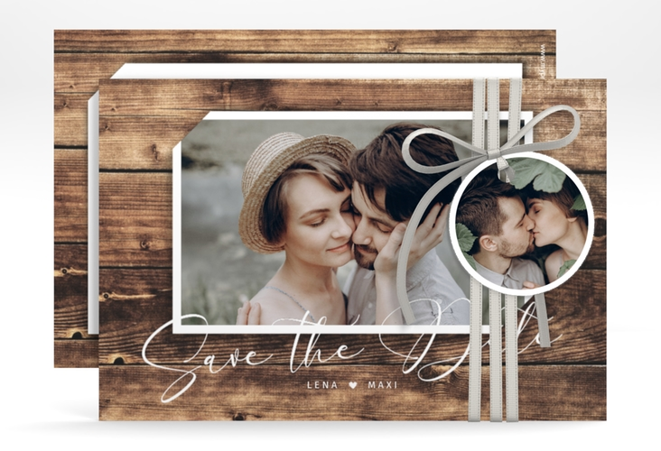 "Save the Date-Karte ""Rustic"" A6 quer"