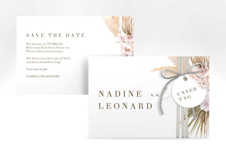 """Save the Date-Karte """"Nude"""" A6 quer"""