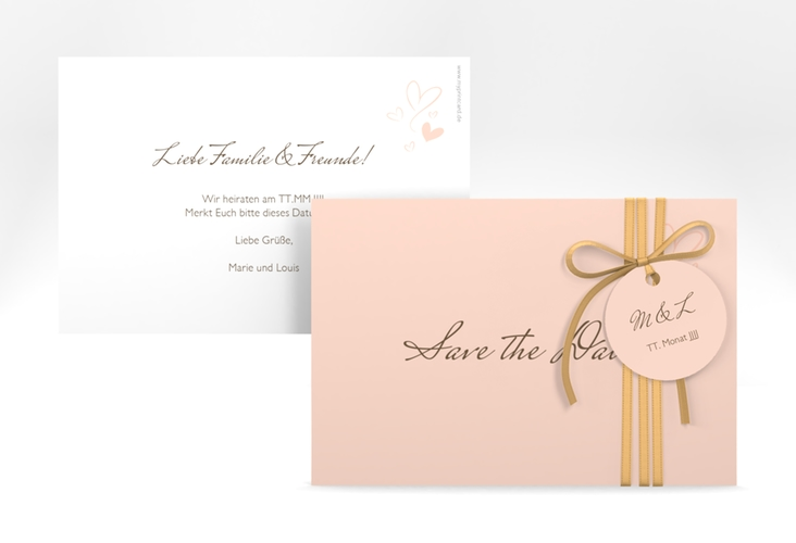 "Save the Date-Karte ""Purity"" A6 quer"