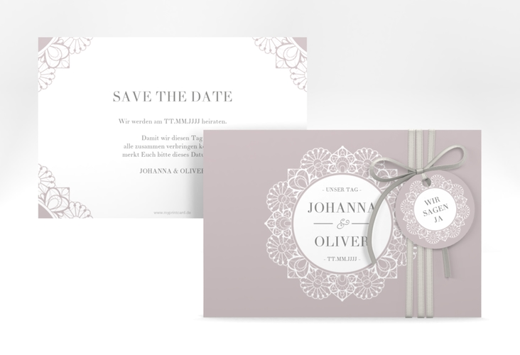 "Save the Date-Karte ""Nostalgie"" A6 quer"
