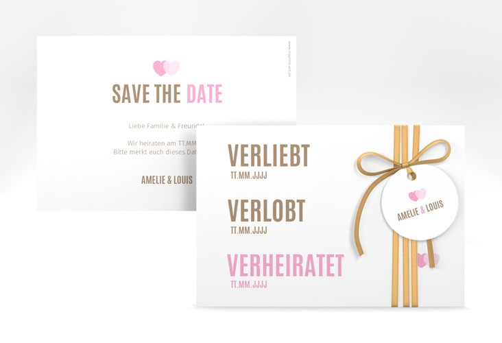 "Save the Date-Karte ""Couple"" A6 quer"