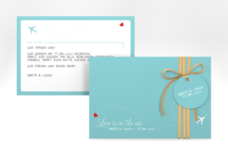 "Save the Date-Karte ""Weddingpass"" A6 quer"