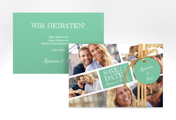 """Save the Date-Karte """"Rise"""" A6 quer mint"""