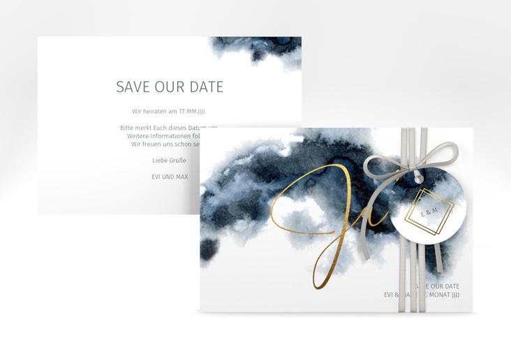 """Save the Date-Karte """"Aquarellic"""" A6 quer"""