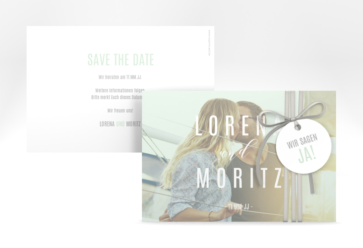 """Save the Date-Karte """"Memory"""" A6 quer mint"""