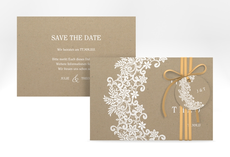 "Save the Date-Karte ""Mariage"" A6 quer"