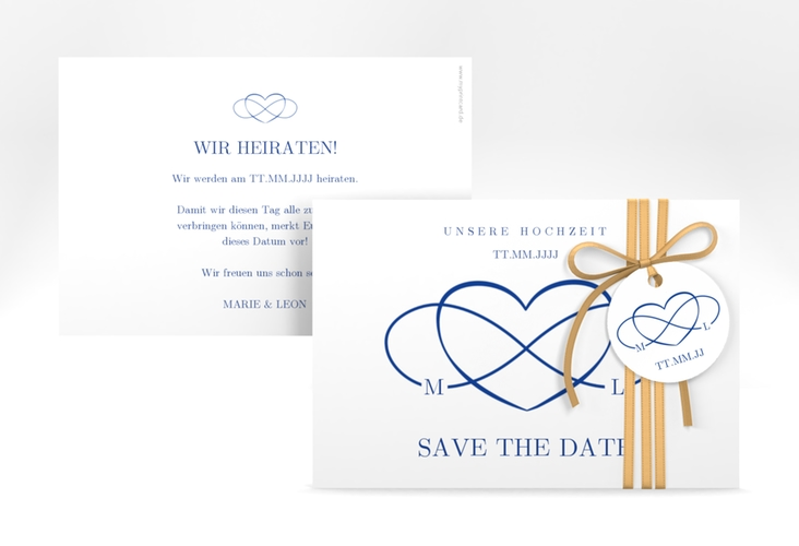 "Save the Date-Karte ""Infinity"" A6 quer"