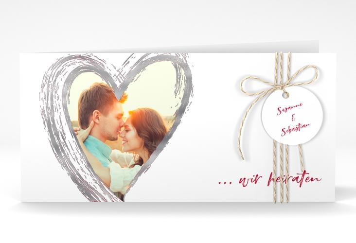 """Hochzeitseinladung """"Liebe"""" DIN lang Klappkarte"""