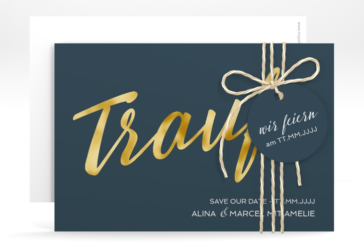"Save the Date-Karte ""Traufe"" A6 quer"