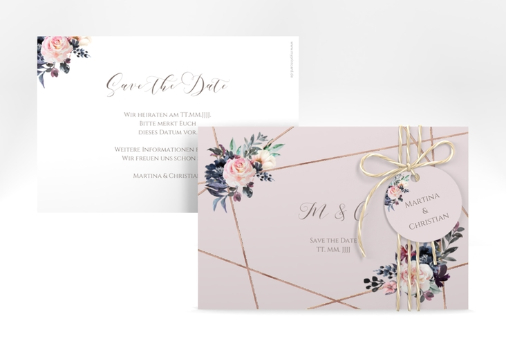 "Save the Date-Karte ""Azalie"" A6 quer"