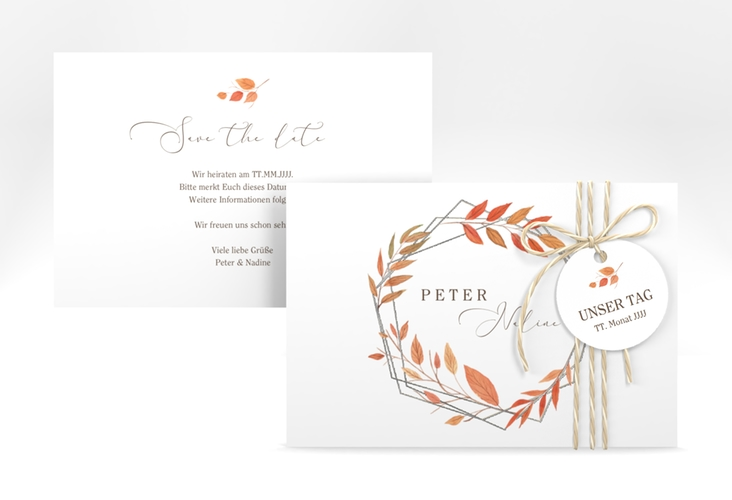 """Save the Date-Karte """"Herbst"""" A6 quer"""