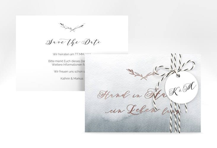 "Save the Date-Karte ""Divine"" A6 quer"