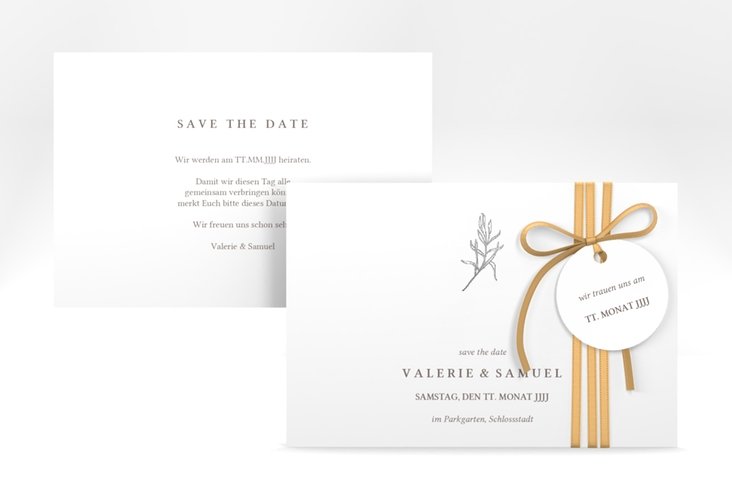 "Save the Date-Karte ""Ivy"" A6 quer"