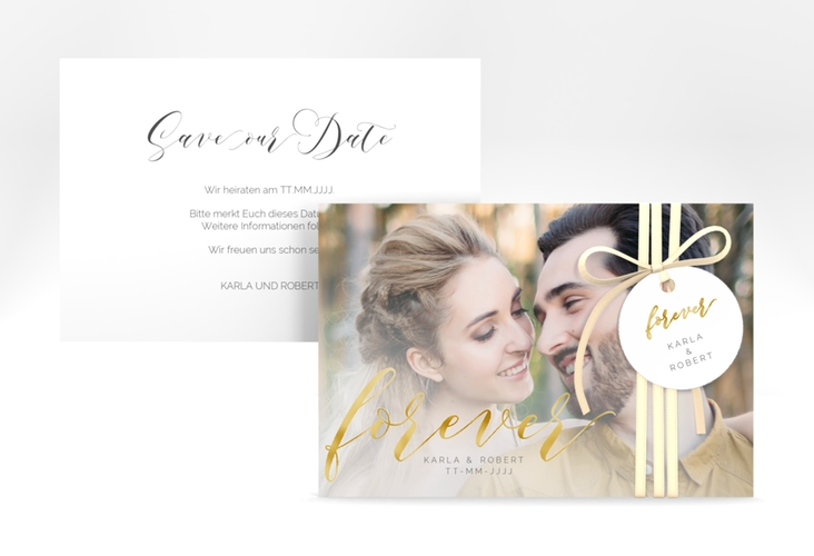 """Save the Date-Karte """"Promise"""" A6 quer"""