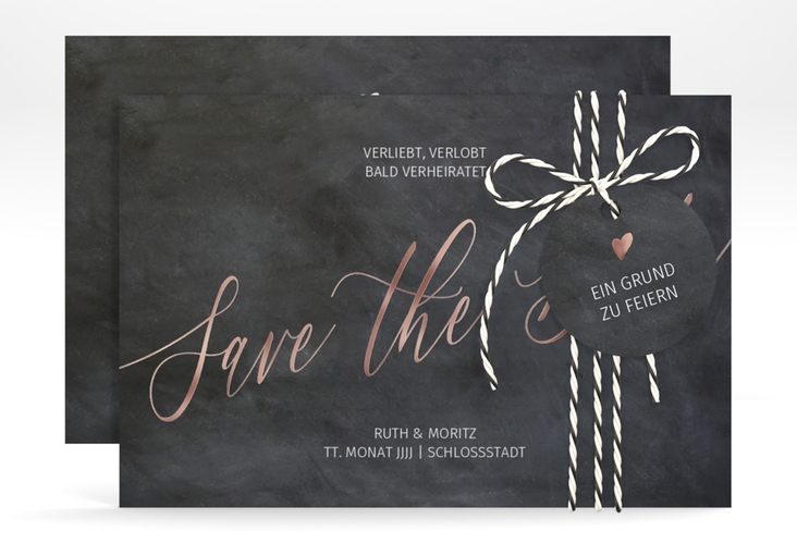 """Save the Date-Karte """"Chalkboard"""" A6 quer"""
