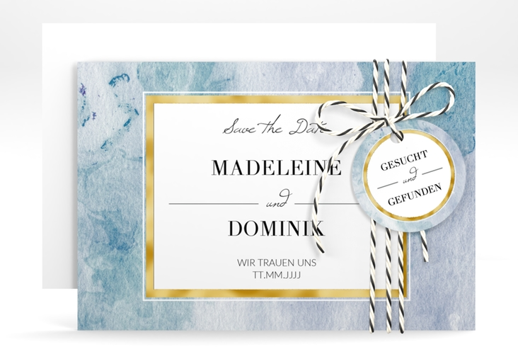 """Save the Date-Karte """"Marble"""" A6 quer"""