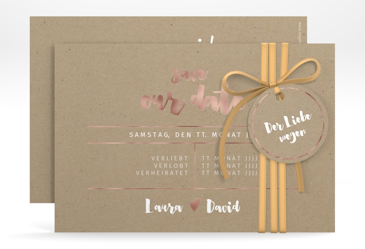 """Save the Date-Karte """"Letterbox"""" A6 quer"""