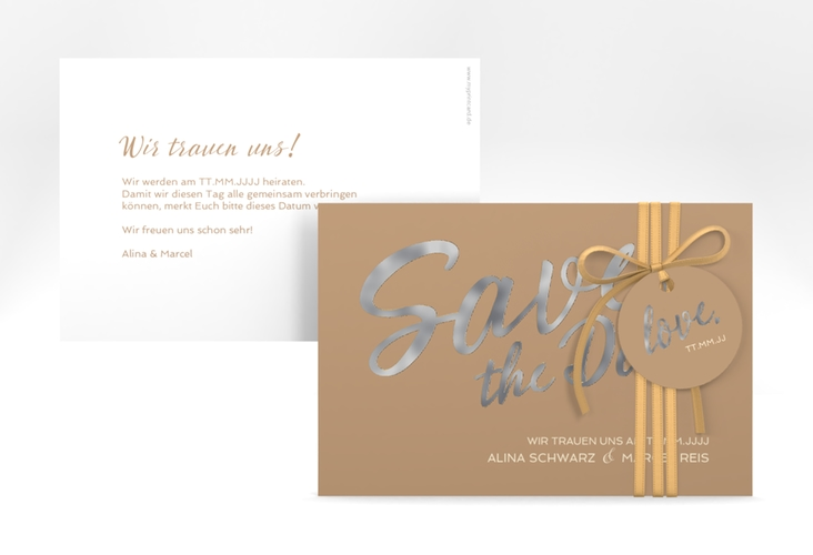 "Save the Date-Karte ""Glam"" A6 quer"