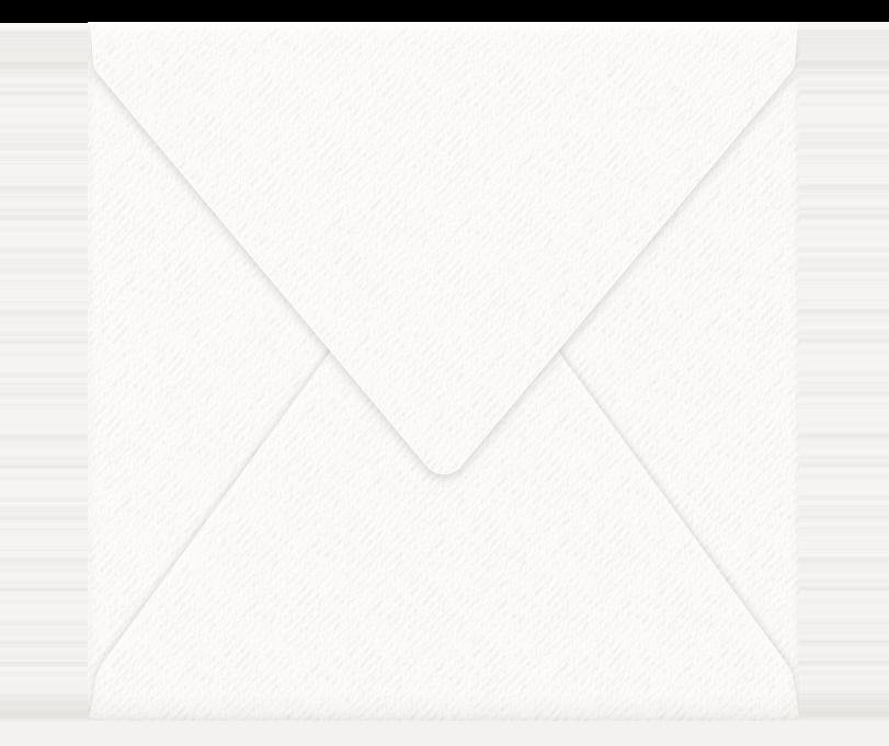 zusätzliche Kuverts quadratisch