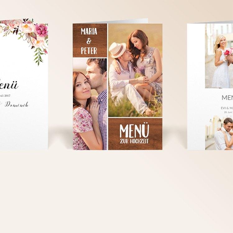 Hochzeits-Menükarten von myprintcard
