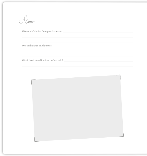 Gästebuch Seite 2