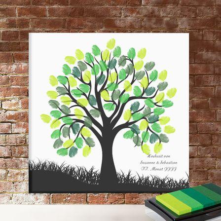 Wedding-Trees als Leinwand