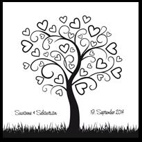 wedding tree online gestalten von myprintcard. Black Bedroom Furniture Sets. Home Design Ideas