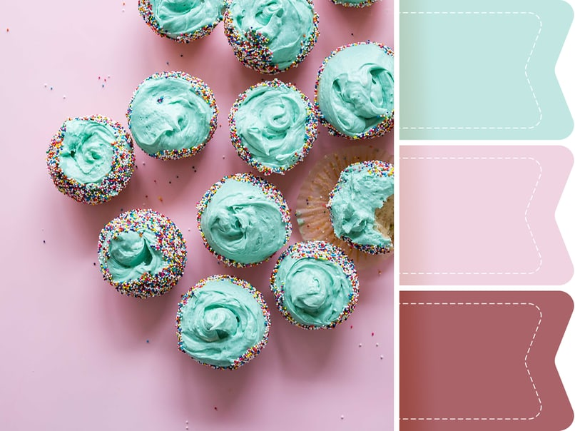 7 hochzeitsfarbkonzepte inspiriert von deinen lieblingss igkeiten myprintcard. Black Bedroom Furniture Sets. Home Design Ideas