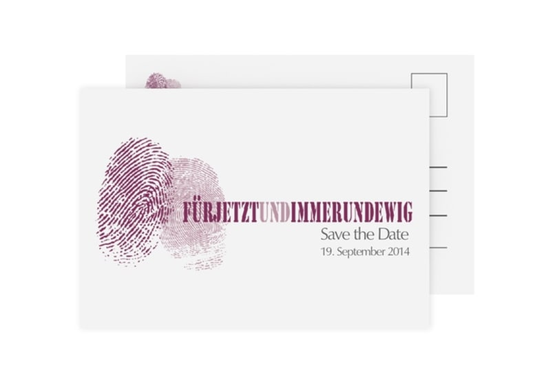 Save the Date-Karte Hochzeit Kollektion Messina