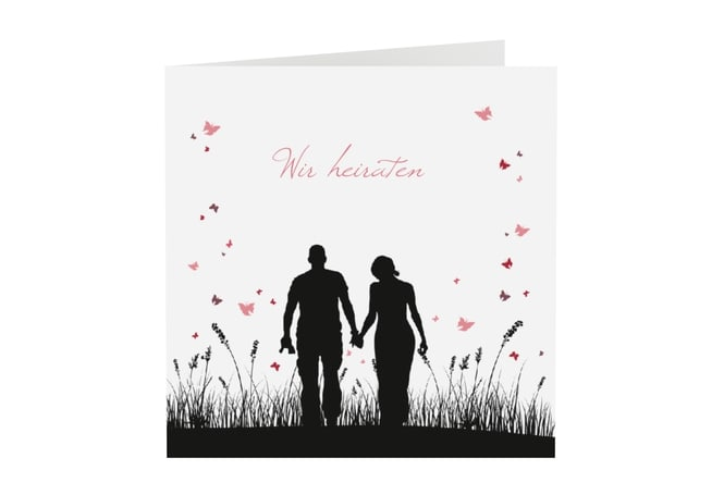 Fesselnd Schwarz Weiß   Ausgefallene Scherenschnitt Hochzeitskarten. Einladungskarte  Hochzeit Kollektion Rouen