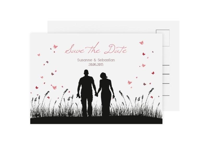 Save the Date-Karte Hochzeit Kollektion Rouen