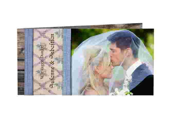 Danksagungskarte Hochzeit Kollektion München