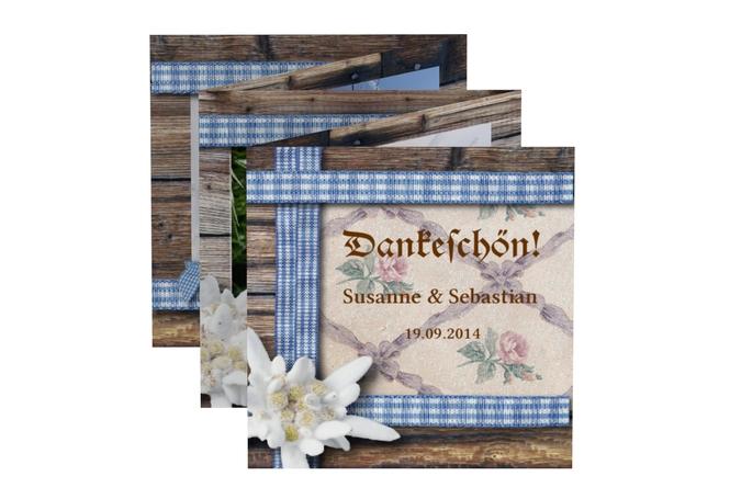 Hochzeitskarten Im Bayerischen Stil Rustikal Mit Edelweiss