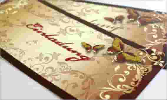 Glamouröse Glitzer-Effekte auf der Hochzeitseinladung