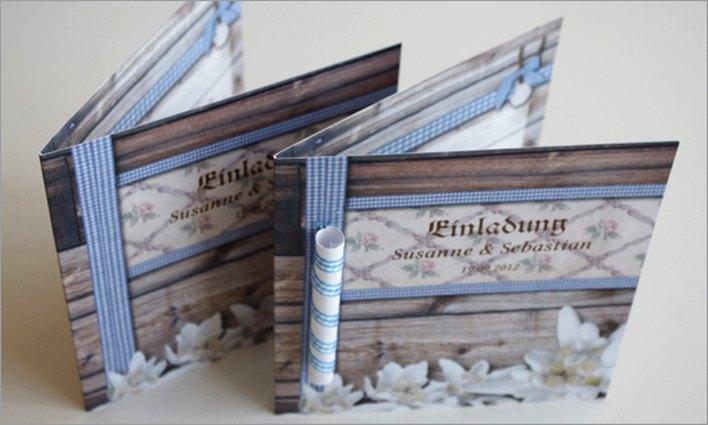 Einladungskarte bayerische Hochzeit