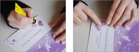 Einladungskarte Schmetterling 3D Bastelschritt 5