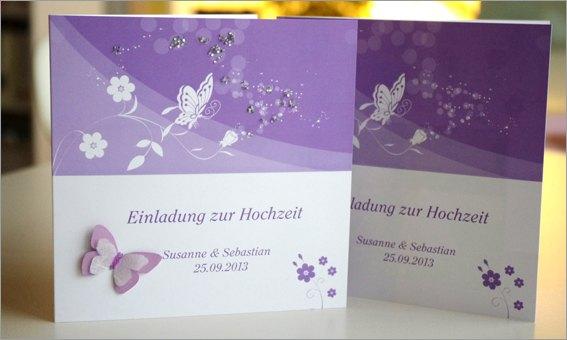 Einladungskarte Schmetterling 3D