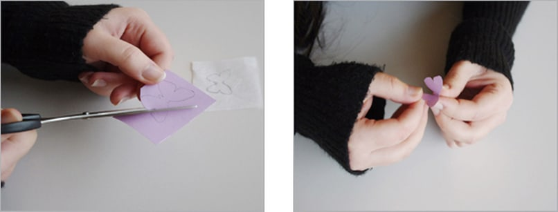Einladungskarte Schmetterling 3D Bastelschritt 3