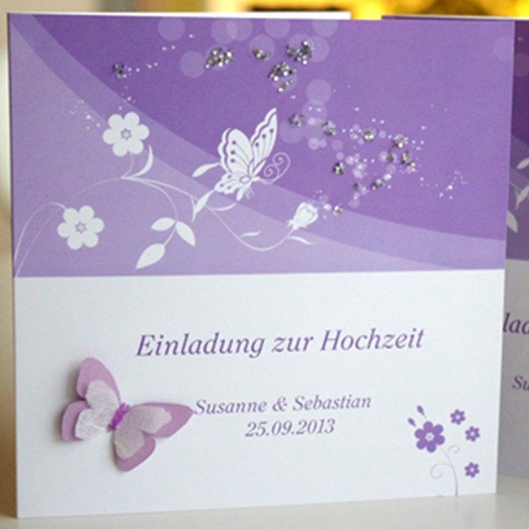 Einladungskarte Schmetterling 3D Einladungskarte Schmetterling 3D
