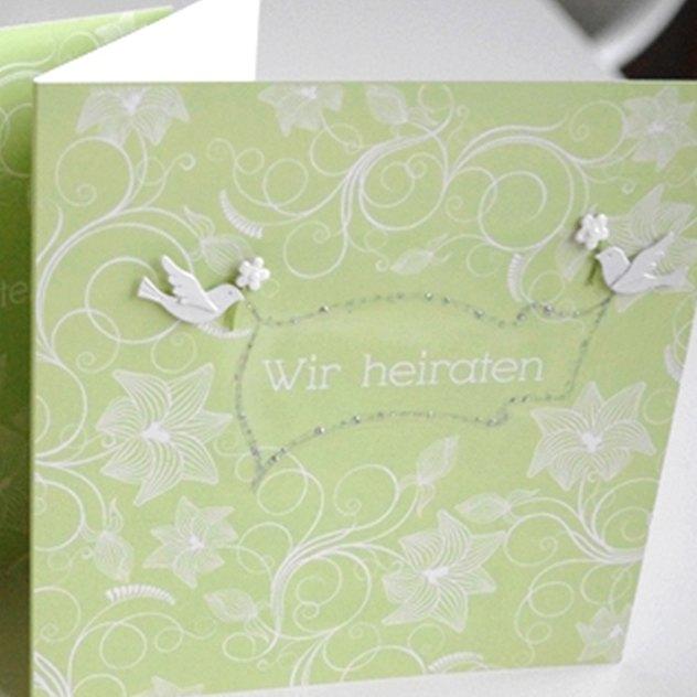 Einladungskarten mit Tauben