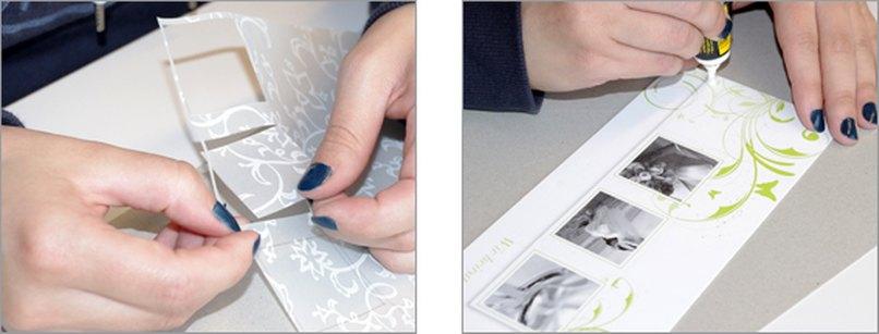 Einladungskarte mit Namenskärtchen. Schritt 3