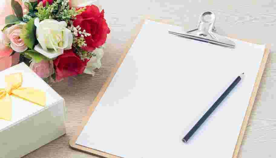 Checkliste Hochzeit Klemmbrett