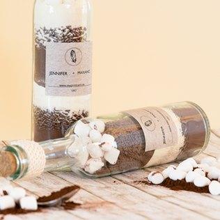 Marshmallow-Backmischung als Gastgeschenk für die Hochzeit