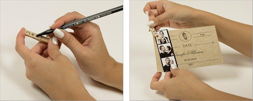 Wie Aus Dem Fotoautomaten Save The Date Karte Mit Fotostreifen