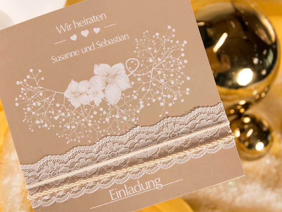 Edle Vintage Bordure Fur Hochzeitskarten So Geht S Myprintcard