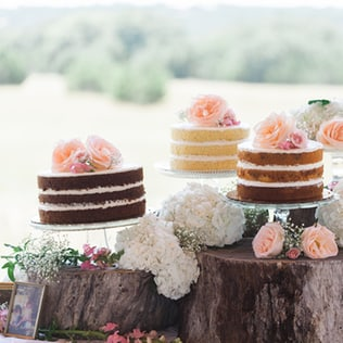 Hochzeitskuchen, Naked Cake, Hochzeitstrends 2016, Kräuter, Vintagedeko